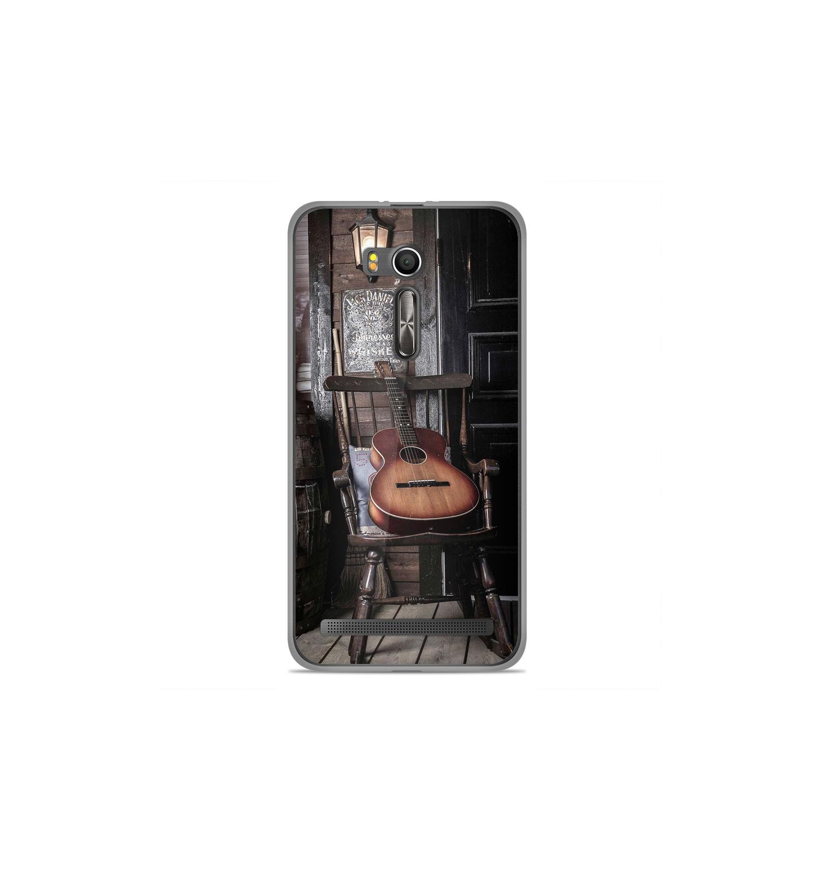 coque en silicone asus zenfone go zb552kl guitare. Black Bedroom Furniture Sets. Home Design Ideas
