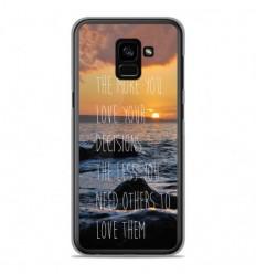 Coque en silicone Samsung Galaxy A8 2018 - Sunshine