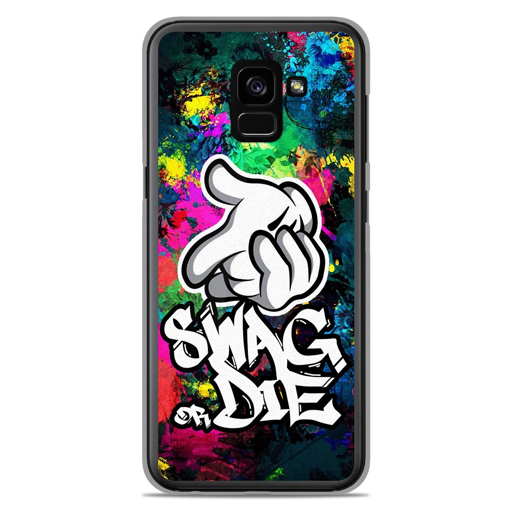 dirt cheap buy wholesale dealer Coque en silicone Samsung Galaxy A8 2018 - Swag or die
