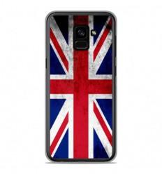 Coque en silicone Samsung Galaxy A8 2018 - Drapeau Angleterre