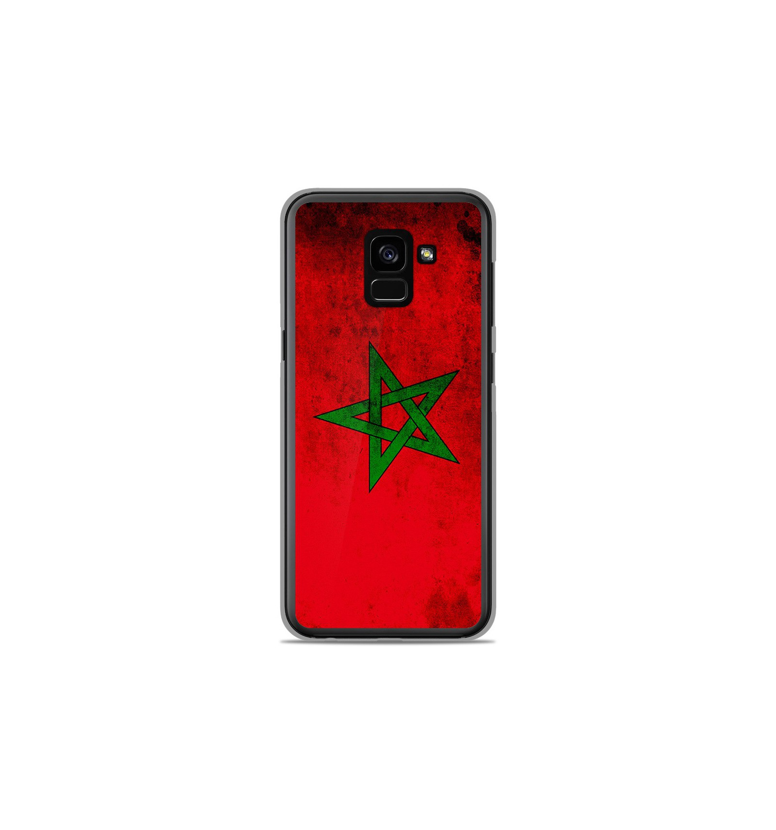 coque en silicone samsung galaxy a8 2018 drapeau maroc. Black Bedroom Furniture Sets. Home Design Ideas