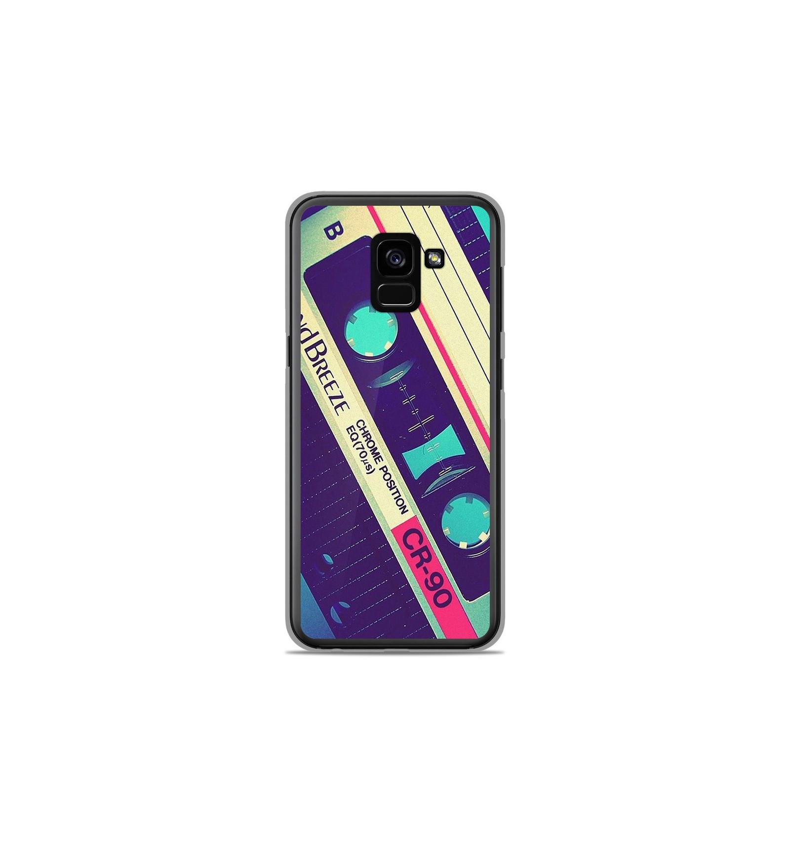 Coque en silicone Samsung Galaxy A8 2018 - Cassette Vintage