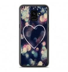 Coque en silicone Samsung Galaxy A8 2018 - Coeur Love