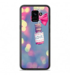 Coque en silicone Samsung Galaxy A8 2018 - Love noeud rose