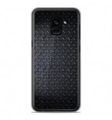 Coque en silicone Samsung Galaxy A8 2018 - Texture metal
