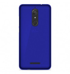Coque Wiko View Silicone Gel givré - Bleu Translucide