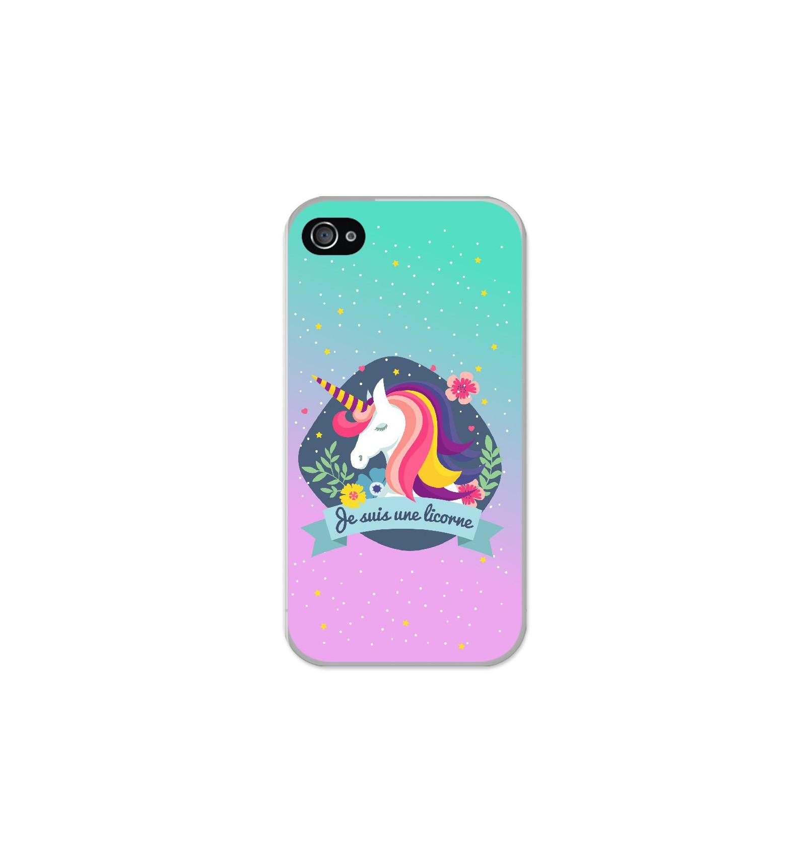 coque iphone 4 licorne silicone