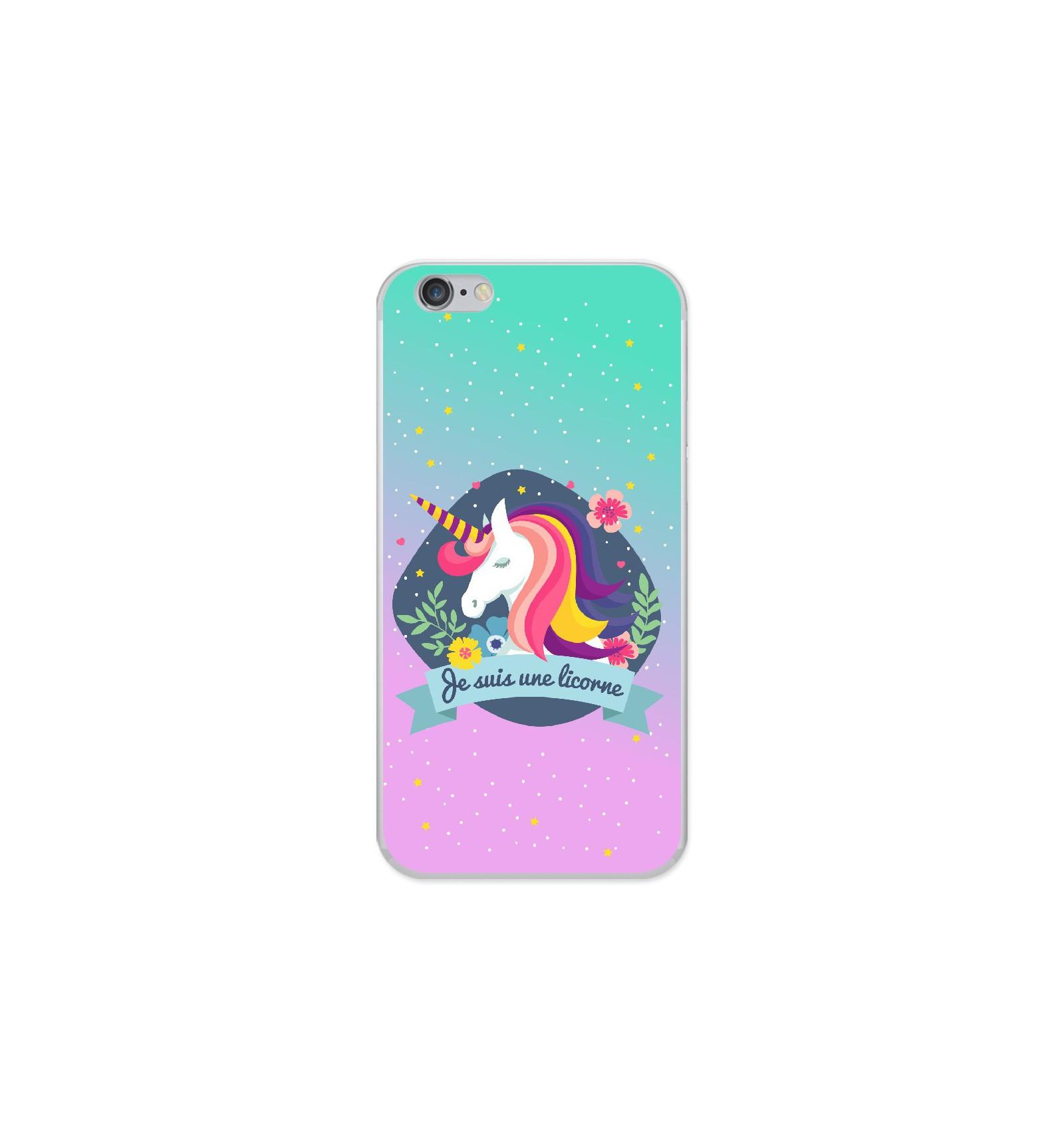 Coque en silicone Apple iPhone 6 / 6S - Je suis une licorne