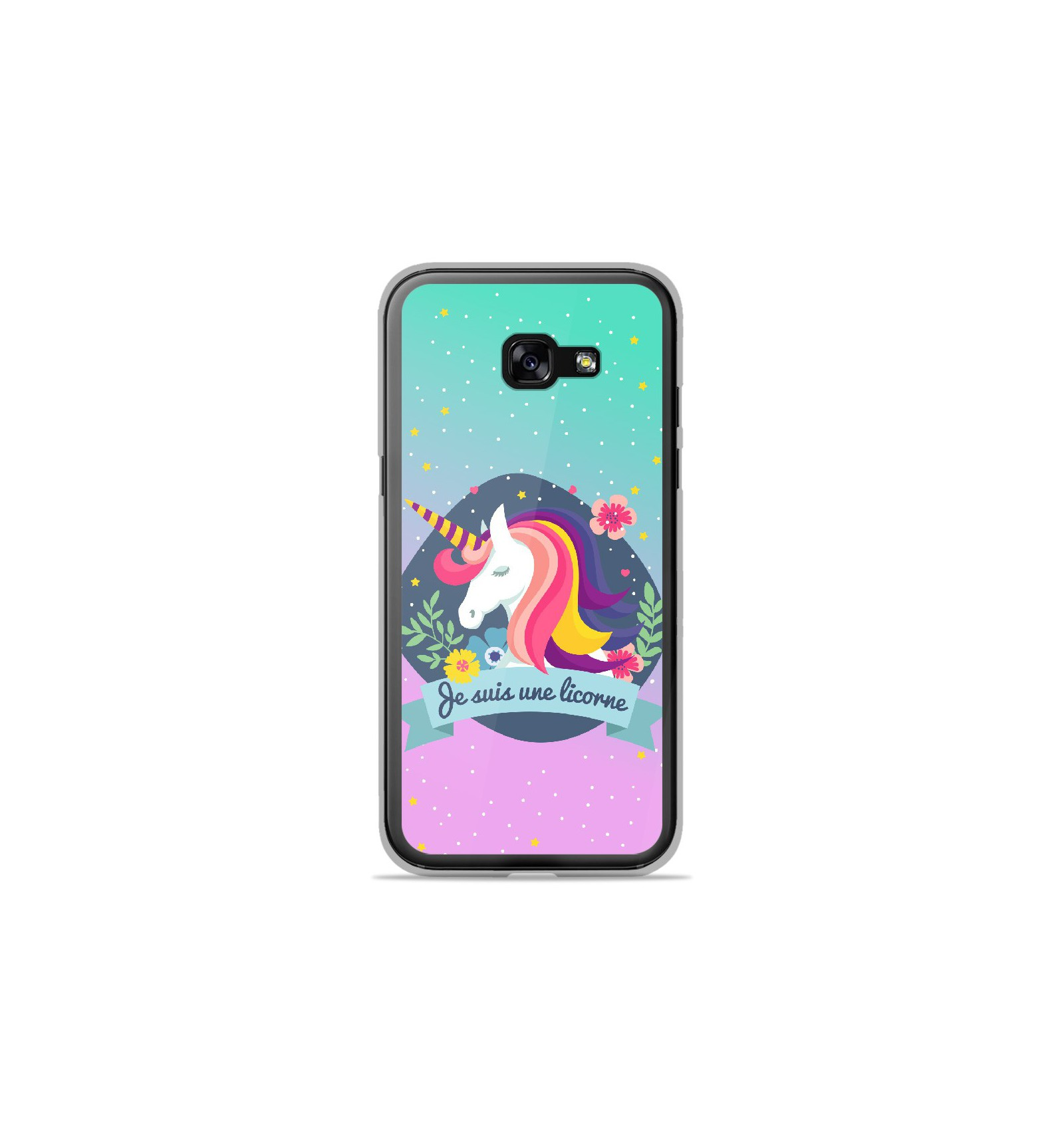 coque en silicone samsung galaxy a3 2017 je suis une licorne. Black Bedroom Furniture Sets. Home Design Ideas