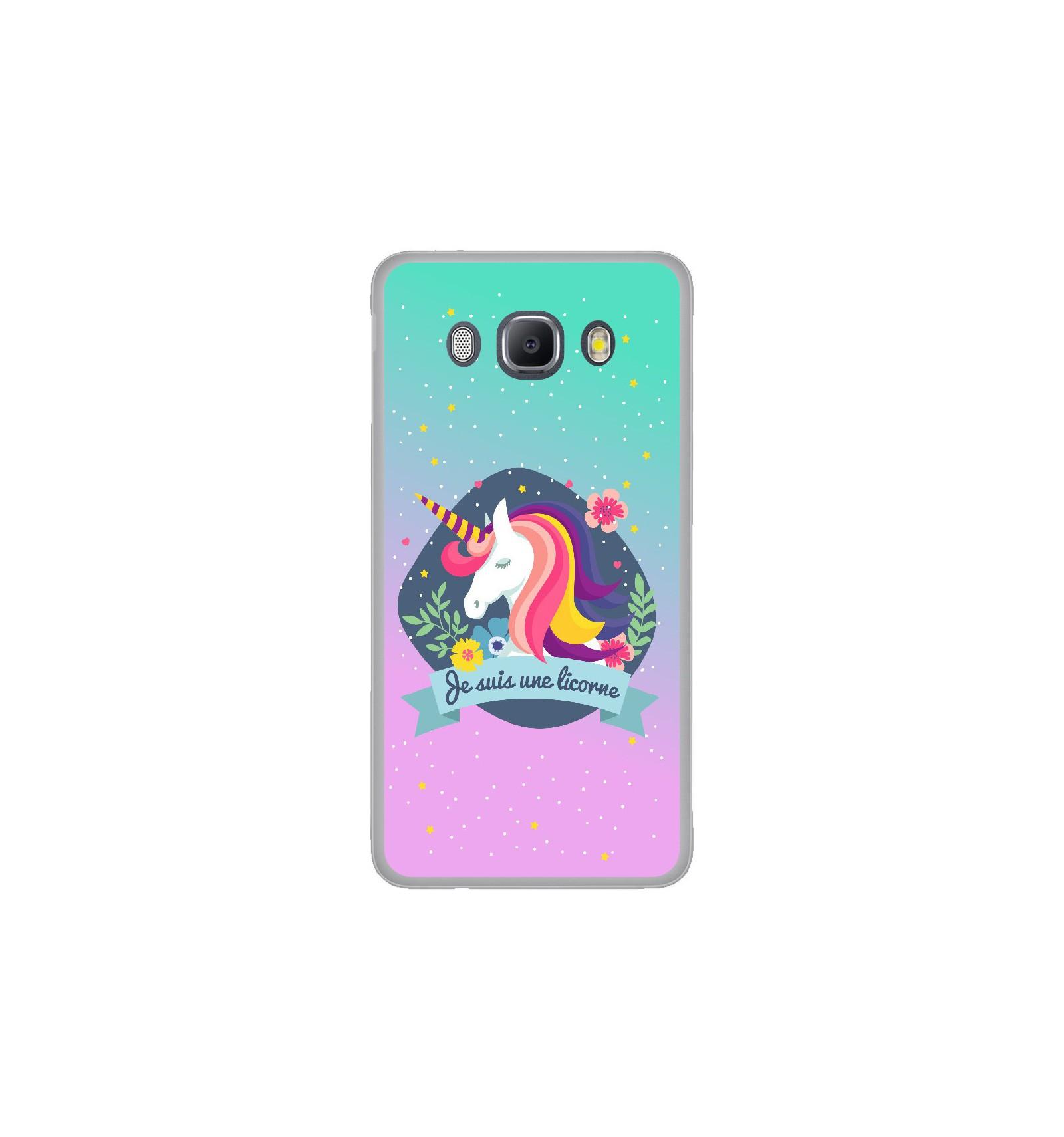 coque galaxy j7 2016 licorne