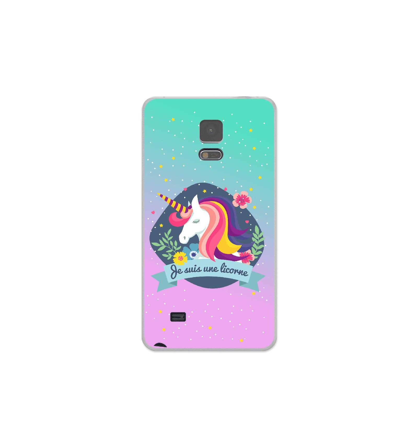 Coque en silicone Samsung Galaxy Note 4 - Je suis une licorne