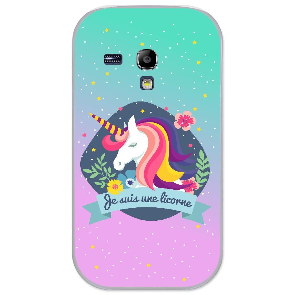 Coque en silicone Samsung Galaxy S3 Mini - Je suis une licorne