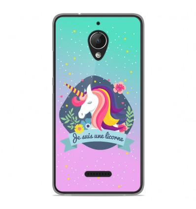 coque en silicone wiko tommy 2 plus je suis une licorne. Black Bedroom Furniture Sets. Home Design Ideas