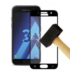 Film verre trempé 4D - Samsung Galaxy A3 2017 Noir protection écran