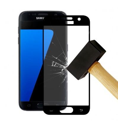 Film verre trempé 4D - Samsung Galaxy S7 Noir protection écran