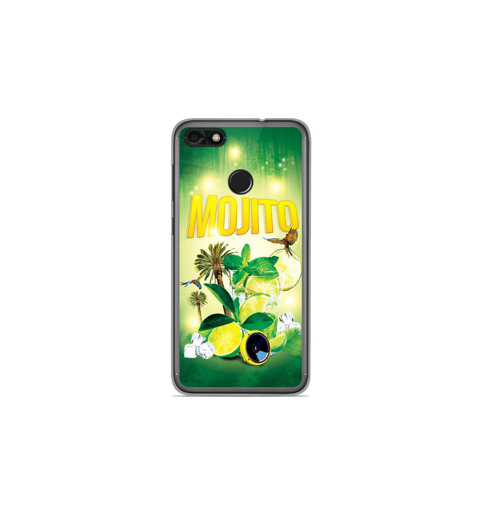 coque en silicone huawei y6 pro 2017 mojito for t. Black Bedroom Furniture Sets. Home Design Ideas