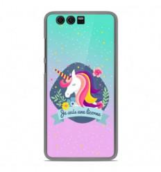 Coque en silicone Huawei Honor 9 - Je suis une licorne