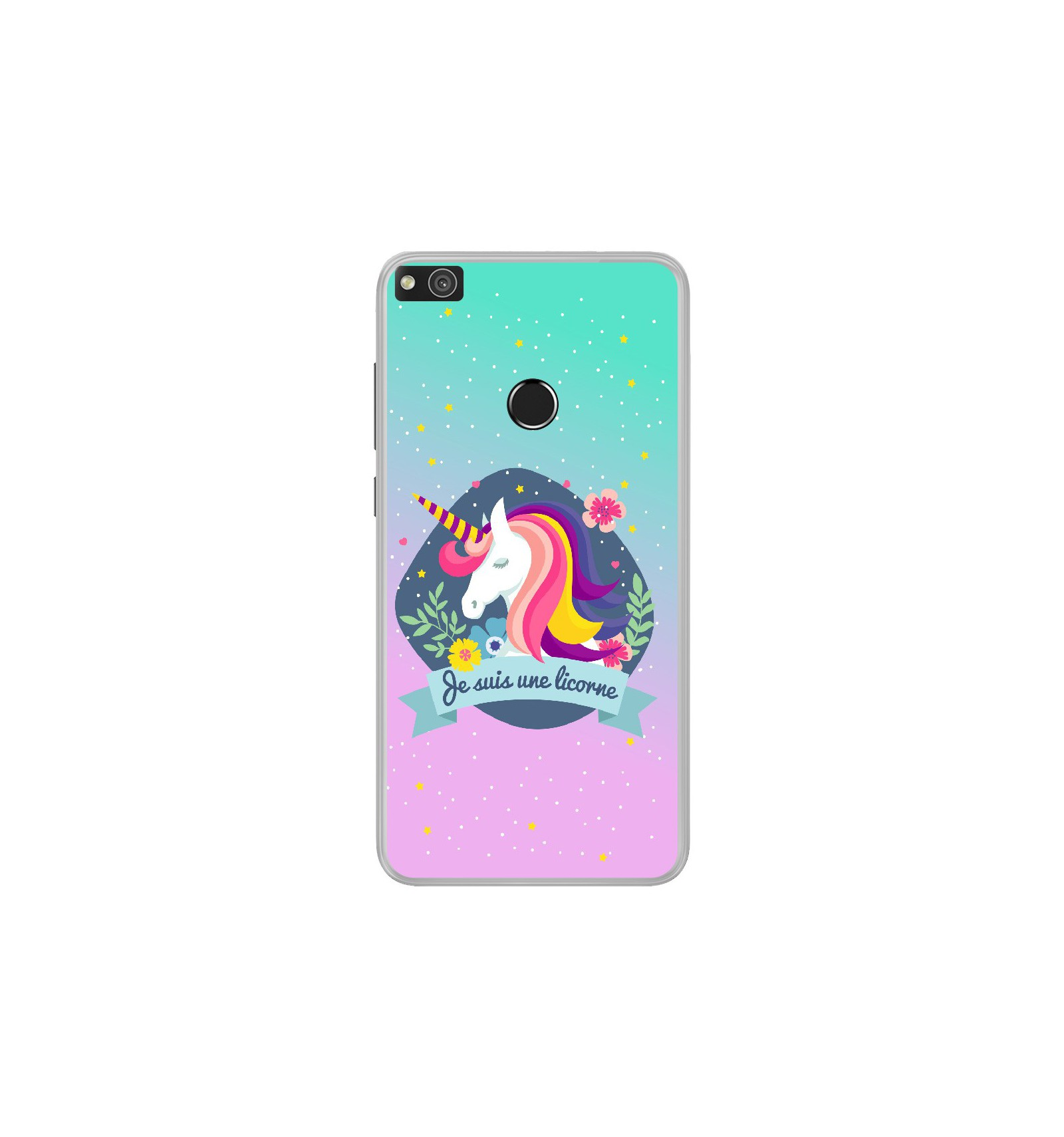 coque telephone huawei p8 lite 2017 licorne