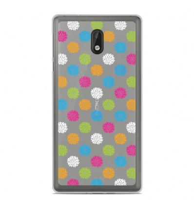 Coque en silicone Nokia 3 - Floral