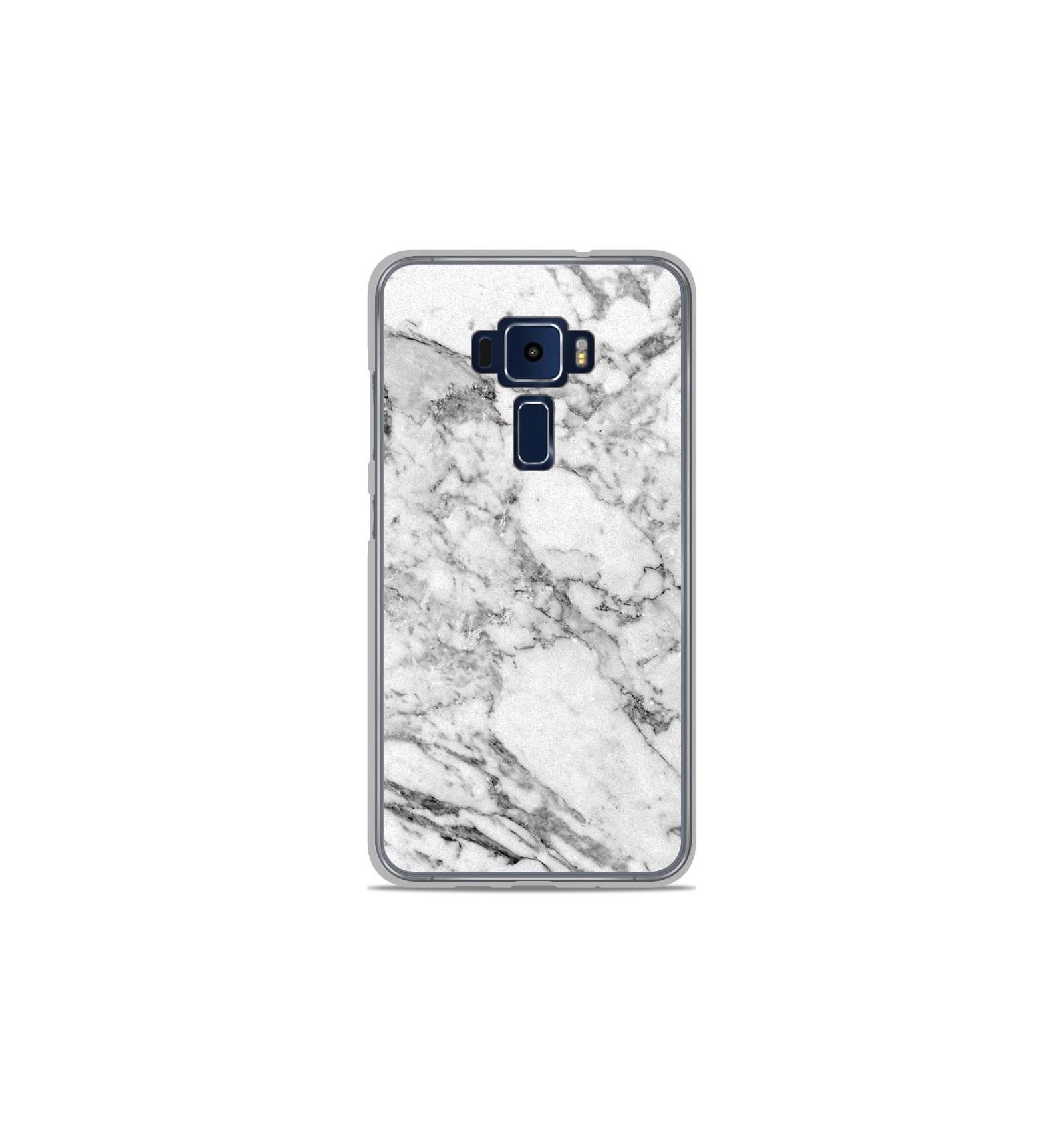 coque en silicone asus zenfone 3 ze520kl marbre blanc. Black Bedroom Furniture Sets. Home Design Ideas