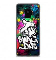 Coque en silicone Samsung Galaxy S9 - Swag or die