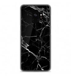 Coque en silicone Samsung Galaxy S9 - Marbre Noir