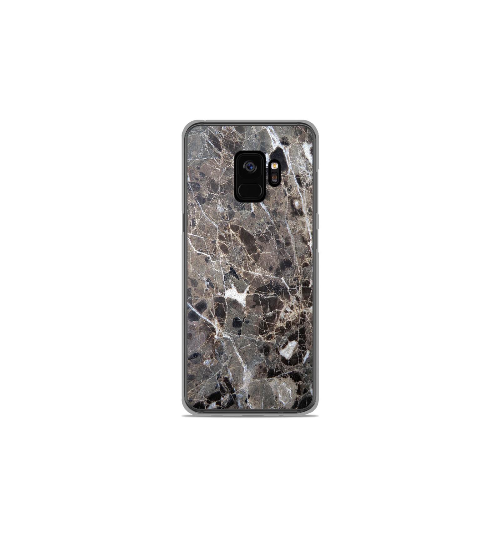 great quality delicate colors new photos Coque en silicone Samsung Galaxy S9 - Marbre