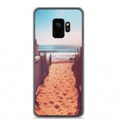 Coque en silicone Samsung Galaxy S9 - Chemin de plage
