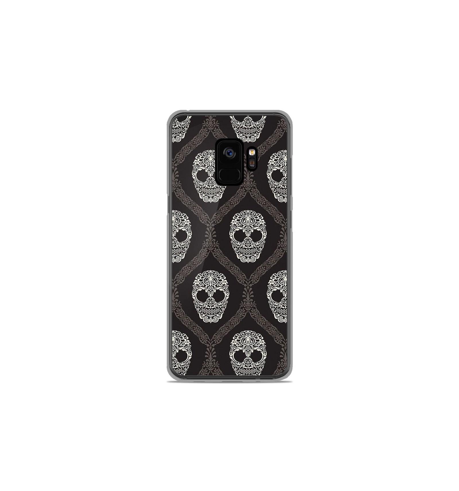 coque samsung s9 silicone skull