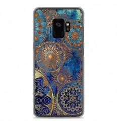 Coque en silicone Samsung Galaxy S9 - Mandalla bleu