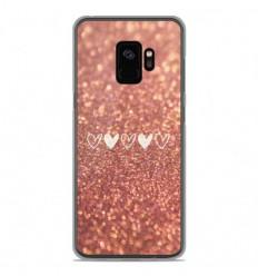 Coque en silicone Samsung Galaxy S9 - Paillettes coeur