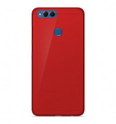 Coque Huawei Honor 7X Silicone Gel givré - Rouge Translucide