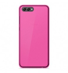 Coque Huawei Honor View 10 Silicone Gel givré - Rose Translucide