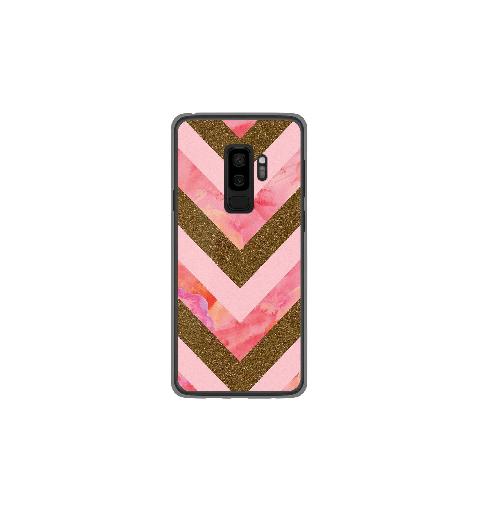 Coque en silicone Samsung Galaxy S9 Plus - Texture paillettes