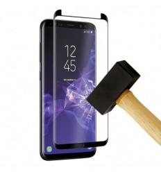 Film verre trempé 4D - Samsung Galaxy S9 Plus Noir protection écran