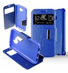 Etui Folio Huawei Y6 2017 - Bleu