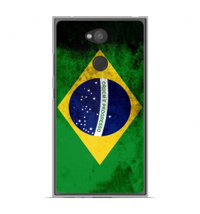 Coque en silicone Sony Xperia L2 - Drapeau Brésil
