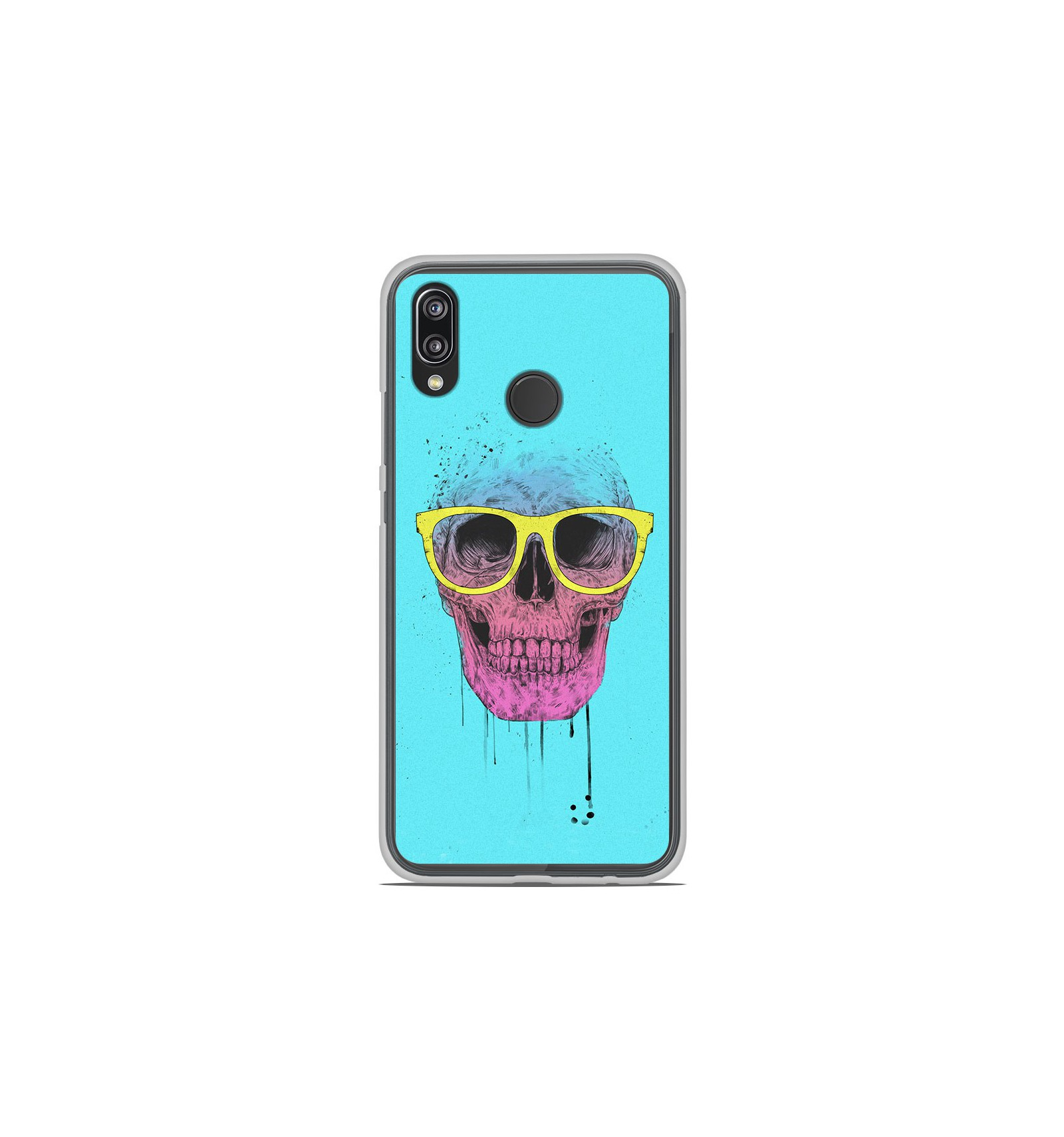 coque en silicone huawei p20 lite bs skull glasses. Black Bedroom Furniture Sets. Home Design Ideas