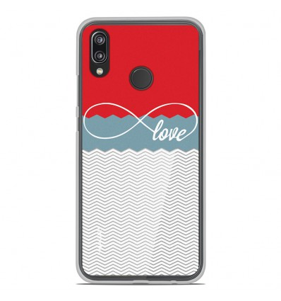 coque en silicone huawei p20 lite love rouge. Black Bedroom Furniture Sets. Home Design Ideas