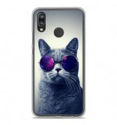 Coque en silicone Huawei P20 Lite - Chat à lunette