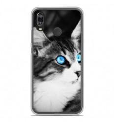 Coque en silicone Huawei P20 Lite - Chat yeux bleu