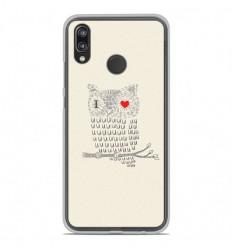 Coque en silicone Huawei P20 Lite - I Love Hiboux