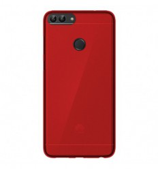 Coque Huawei P Smart Silicone Gel givré - Rouge Translucide