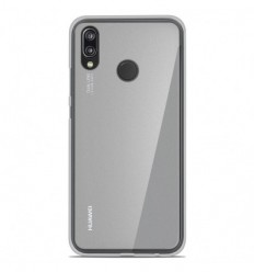 Coque Huawei P20 Lite Silicone Gel givré - Blanc Translucide