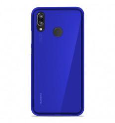 Coque Huawei P20 Lite Silicone Gel givré - Bleu Translucide