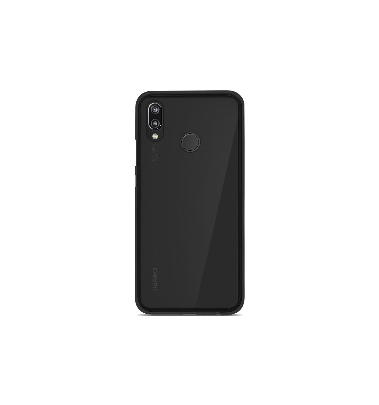 Coque Huawei P20 Lite Silicone Gel givré - Noir