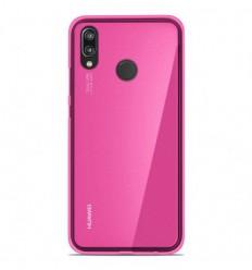 Coque Huawei P20 Lite Silicone Gel givré - Rose Translucide