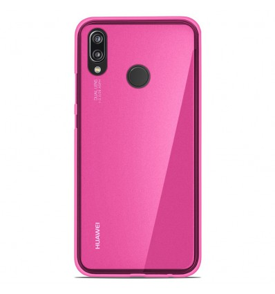 Coque Huawei P20 Lite Silicone Gel givré - Rose Translucide
