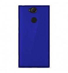 Coque Sony Xperia XA2 Silicone Gel givré - Bleu Translucide