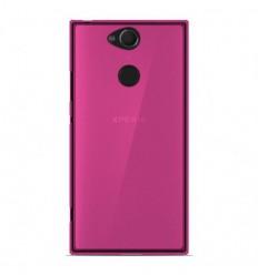 Coque Sony Xperia XA2 Silicone Gel givré - Rose Translucide